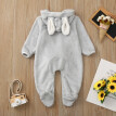Newborn Baby Boys Girls Winter Cute Ear Fleece Jumpsuit Romper Warm Outwear