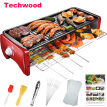 Techwood GR-108 Double Layer Electric Barbecue Grill Pan Classic Type (For 3-5 People)