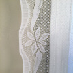 Christmas Themed Lace Curtain Rod Pocket Window Treatment Curtains Panel Holiday Decorations Polyester