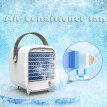 Portable LED Air Conditioner Small USB Desktop Cooling Fan Built-in Ice Box