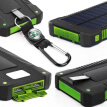 50000mAh Dual-USB Waterproof Solar Power Bank Portable LED LCD Compass Battery Charger