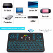 Q9 2.4G RF Wireless Keyboard Mouse Combo Handheld Remote Control w/ Touchpad Colorful LED Backlight for Android TV BOX Smart TV HT