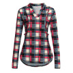 Women Mom Pregnant Nursing Baby Maternity Plaid T-shirt Tops Blouse Clothes