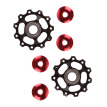 2pcs 11T Bike Aluminum Alloy Bearing Jockey Wheel Rear Derailleur(Black) A
