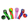 Portable Silicone Cigarette Pipe Smoking Accessory Silicone Tobacco Pipe (Red Yellow Green)