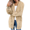 Autumn Winter Jacket Female Coat Causal Soft Hooded Pocket  Fleece Plush Warm Faux Fur Fluffy Women Jacket Plus Size S-XXL
