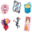 Ailin Online Cardcaptor Sakura Car Stickers, Anime Bumper Sticker for Phone, Laptop, Car, Lugguage, Skateboard and More
