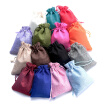 100PCS Linen Gift Bag Rustic Mini Drawstring Jewelry Bag Candy Pouch for Wedding