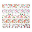 10pcs Christmas Decorations for Nails Mix Colorful Transfer Nail Foil Sticker