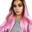 MIARHB Fashion Synthetic Long Wavy Gradient Dyeing Natural Hair Full Wigs For Women