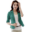 Women Spring 3/4 Sleeve Button Short OL Office Suit Coat Jacket Outwear Tops S-XXL