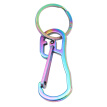 1pc Stainless Steel Key Chain Simple Design Metal Key Ring Key Holder for Men Women (Colorful Titanium)
