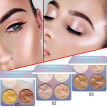 4 Colors Highlighter Palette Face Makeup Contour Powder Bronzer Professional Make Up Palette Easy To Wear Beauty Cosmetics