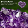 Natural Amethyst Heart Shape Crystal Quartz Healing Stone for Home Decoration Ornament Collection Purple