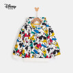 Disney Disney children's clothing children's boys non-fleece hooded printed sweater cartoon foreign childlike baby long-sleeved 2020 winter DB041EE09 happy Mickey family 110cm