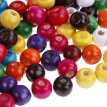 100Pcs wooden beads round ball spacer beads kid''s DIY for jewelry making 9*10mm