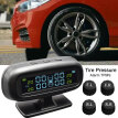 Tire Pressure Monitoring System Car Tpms Solar Power Digital Gauge With Lcd Color Display