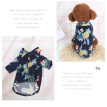 Pet Hawaiian Style Shirt Adorable Dog Blouse Fashion Puppy Clothes Breathable Summer Pet Coat (Navy Size S)