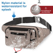 WATERFLY Hiking Hip Pack Fanny Pack for Men Women Large Waist Pack with Multi Pockets Waist Pouch Bag Money Belt for Traveling Nur
