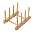 High-quality Solid Wood Bamboo Plate Racks Multipurpose Shelves Drainboard Kitchen Pot Lid Holder Dish Drain Dish Rack