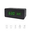 Wooden Alarm Clock Wireless Charging Wood Led Digital Clock Sound Control Function