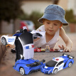 Remote Control Deformation Car 1:18 One Button Robot Transforming Car model  with 5 Wheels Light Electric Deformation Vehicle Toy