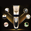 1 Set of Pet Electric Hair Cutter Professional Electric Clipper Fashion Pet Hair Trimmer with EU Plug Golden