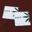 2Pcs Cigarette Ash Bags Portable Green Leaf Pattern Lightweight Creative Delicate Ash Pockets Cigarette Ash Holder