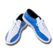 1 Pair Mens Navy Blue Bowling Shoes Microfiber Sole Breathable