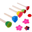 TANGON 5Pcs Colorful Pattern DIY Toys Graffiti Tools Painting Brushes Educational Toys