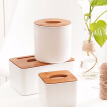 Home Kitchen Wooden Plastic Tissue Box Solid Wood Napkin Holder Case Simple Stylish New