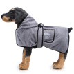 Dog Bathrobe Soft Super Absorbent Luxuriously 100% Microfiber Dog Drying Towel Robe With Hood/Belt For Large, Medium, Small Dogs