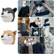 3DPaper Mask Fashion Cute Dog Animal Cosplay Costume Diy Paper Craft Model Mask Christmas Halloween Prom Party Gifts