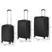 "3Pcs Luggage Set Family Travel Bag ABS Trolley Spinner Suitcase with TSA Lock 20"" & 24"" & 28"""