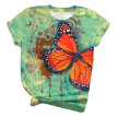 Lovaru Women's Butterfly 3D Printed Short Sleeve T-shirts