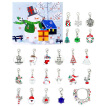 Christmas Countdown Calendar Jewelry Kit DIY Xmas Ornaments Beads Bracelet Necklace Gift Box