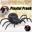 TOYFUNNY Remote Control Spider Scary Wolf Spider Robot Realistic Novelty Prank Toys Gifts