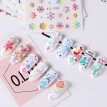 Nomeni 30Pcs/Set Christmas Nail Foils Colorful Foil Nail Art Transfer Stickers Decal