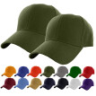 Mens 2PC Summer Casual Outdoors Solid Color Sports Summer Hat Baseball Cap