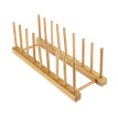 High-quality Solid Wood Bamboo Plate Racks Multipurpose Shelves Drainboard Kitchen Pot