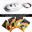 LED Beeping Flashing Light Key Finder Find Lost keychain Whistle Sound Control Keyring Gift