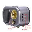 M 205BT Portable USB AUX Home MP3 Player Speaker TF Card Classic FM Radio Stereo