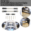 GPM Racing Stainless Steel Tie Rods Adjustable Set For TRAXXAS 1/10 MAXX Rc Car