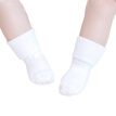 Unisex Non-slip Turn Cuff Cotton Socks Infant Toddler Socks for Kids 4-6 Years Old (White)