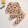 Newborn Infant Baby Boys Girls Cartoon Dinosaur Print Sweatshirt+Pants Outfits