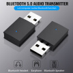 Usb Bluetooth5.0 Adapter Audio Transmitter Aux 3.5Mm Jack Bluetooth Receiver Mini Stereo Bluetooth Dongle Wireless Adapter For Co