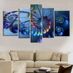 5PCS Household Decorative Wall Art Painting Modern Frameless Canvas Painting Print Home Room Art Wall Background Decoration