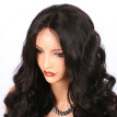 Super Wavy Natural Brown Color Full Lace Human Hair Wigs Natural Hairline Full Lace Wig