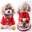 Cute Christmas Dog Clothes Winter Pet Products Pets Coats Soft Cotton Puppy Dog T shirt Puppy Costume Clothes For Dog XS-2XL