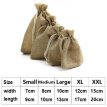 10x Bag Natural Pouch Drawstring Burlap Jute Sack Jewelry Candy Gift Wedding Hot